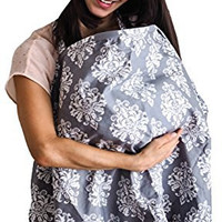 Nursing Cover - Baby Breastfeeding Cover & Hooter Hider - Free Bonus Storage Pouch - Best Wide Privacy Covers for Moms - Perfect Baby Shower Gift for Girls and Boys
