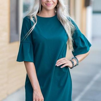 Beauty Personified Dress, Hunter Green