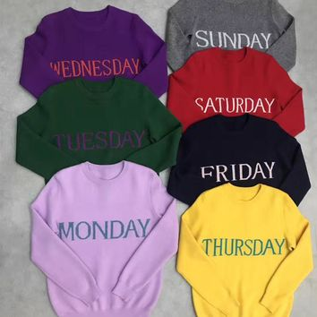 Day Of The Week Knitted Sweater