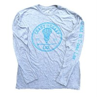 Crazy Soft Triblend Longsleeve Tee - Heathered Grey