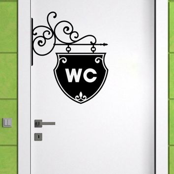 YOYOYU Wall Decal Vinyl Sticker Art WC Bathroom Toilet Creative Door Window Removable Home House Decoration Mural Poster Y-46