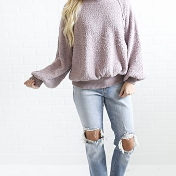 lounge around oversized sweatshirt - lavender