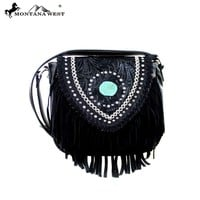 MW370-8287 Montana West Fringe Collection Crossbody Bag