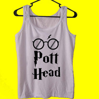 The Pott Head Shirt Glasses Harry Potter tank top womens and mens,unisex adults standard fit cut and double stiched on neck and shoulders