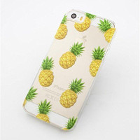 Stylish Fruit Pineapple Transparent Clear Case Cover for Iphone 5s 5c 6 6 plus 7