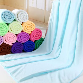 180g/pc  140x70cm Microfibre For beach towel Superdry Bath towels Super Soft Water Aborsbent Sports aqua Gym Microfiber towel