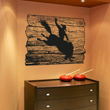 Vinyl Wall Decal Sticker Rodeo Plaque #OS_AA1595