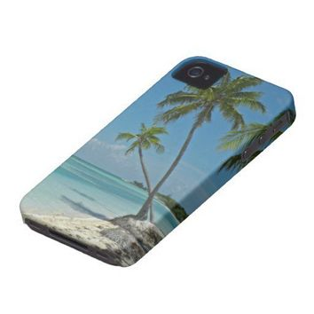 Tropical Beach iPhone4 Case-mate Case iPhone 4 Cases from Zazzle.com