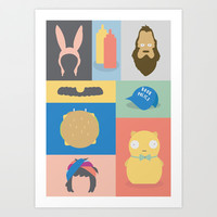 The Icon Project - Bobs' Burgers Art Print by Craig Anthony Design