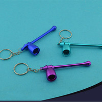 Metal Pipe Mushroom Keychain Key Chain Portable Mini