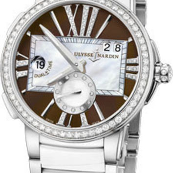 Ulysse Nardin - Executive Dual Time Lady - Stainless Steel - Diamond Bezel