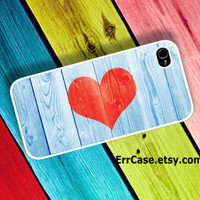 Heart Print on Wood Case , Heart Case , Wood Case : Iphone 4/4s case Iphone 5 case and Samsung Galaxy S3