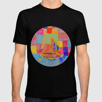 When an umbrella transforms into a boat on Christmas night  T-shirt by Azima