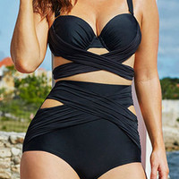 High Waist Underwire Bikini