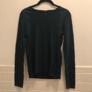Top Shop Green Sweater with Inset (NWT)