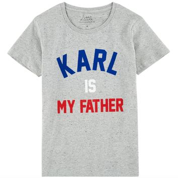 Eleven Paris Girls Grey 'Karl' Printed T-shirt