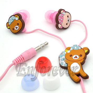 New Rilakkuma 3.5mm Headset Earphone Earbud^HP702