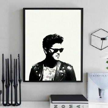 Bruno Mars Wall Art  | Lisa Jaye Art Designs