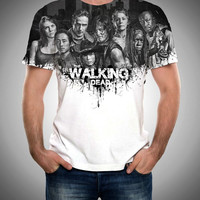 TWD, The Walking Dead, Zombie, Zombies, Front and back , Custom All Over Print, The walking dead Shirt, TWD shirt, Zombies Shirt