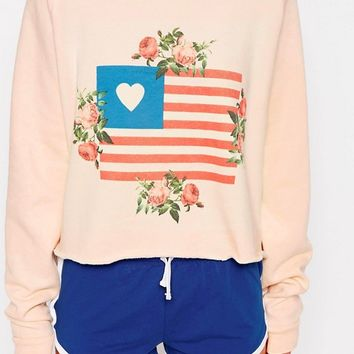 Wildfox Granny's Flag Sweater at asos.com