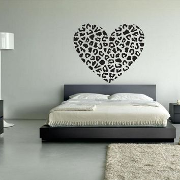 Wall Vinyl Decal Sticker Decals Eye Heart Leopard  z12