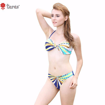 Bandeau Top Bikini Girls Halter Swimwear Sexy Push Up Swimming Suit for Women Brazilian Bikini Set Female Swimsuit
