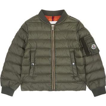 MONCLER - Aidan quilted bomber jacket 4-14 years | Selfridges.com