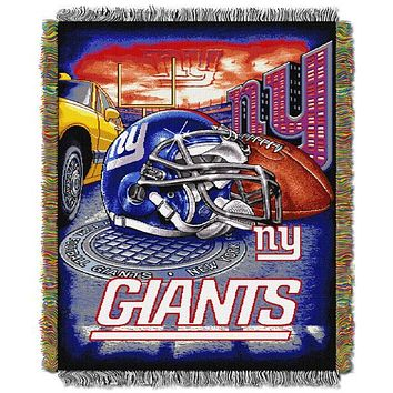 "New York Giants NFL Home Field Advantage 48""x 60"" Woven Tapestry Throw"
