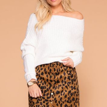 Eva Button Up Leopard Mini Skirt