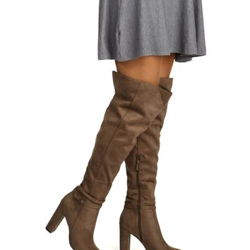 Taupe Top Notch Boots