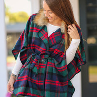 At the Lodge Poncho - Navy