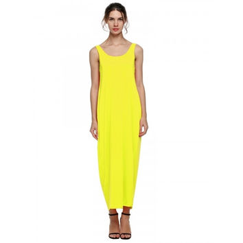 Stylish Lady Women's Fashion Casual Sleeveless Backless Loose-fitting Long Maxi Party Sexy Dress