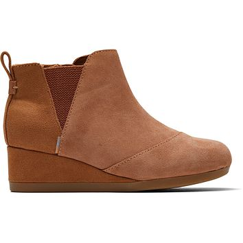 TOMS - Youth Kelsey Carmel Brown Suede Boots