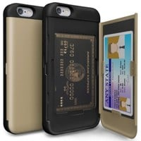 SKINU Iphone 6S Dual Layer Protector Card Case Champagne Gold