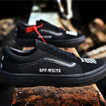 "2018 OFF-WHITE x Vans Old Skool ""Willy"" AL08 36--44"