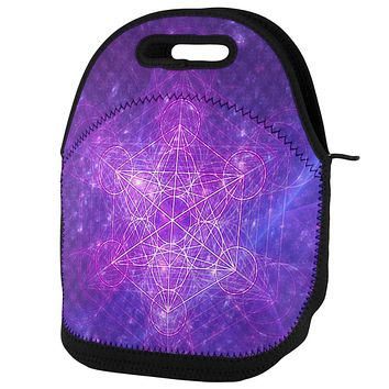 Sacred Geometry Metatron Cube Map of Creation Lunch Tote Bag