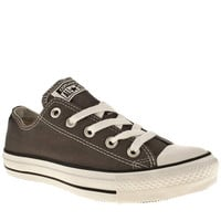 womens converse dark grey all star speciality oxford trainers