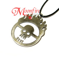 Mad Max Fury Road Immortan Joe Burning Skull Logo Necklace