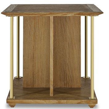 Brownstone Furniture Atherton Teak End Table