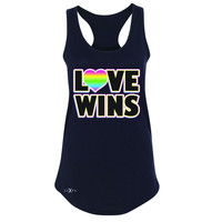 Zexpa Apparel™ Love Wins - Love is Love Gay is Good Women's Racerback Gay Pride Sleeveless