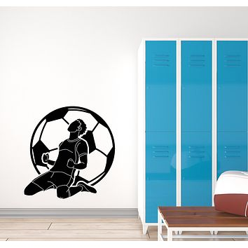 Vinyl Wall Decal Soccer Sport Game Ball Player Boys Room Stickers (3624ig)