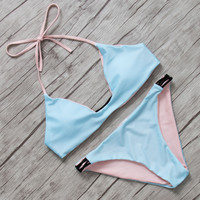 New Arrival Simple Style Summer Beach Bathing Suit Women Swimwear Sets Sexy Bikini 2016 Low Waist Swimsuit Maillot De Bain Femme
