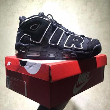 Best Online Sale Nike Air More Uptempo Og Retro Sport Baskerball Black White Sneaker 414962-004