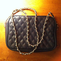 Vintage quilted purse with chain strap