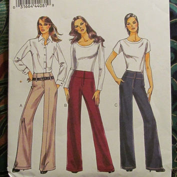 SALE Uncut Very Easy Vogue Sewing Pattern, 8751! 12-14-16-18-20 Med/Lrg/XL/Plus/Women's/Misses/Bell Bottom Pants/Flare Bottoms/Casual