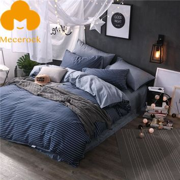 2017 MECEROCK 100%Cotton Bedding Sets Nordic Brief Blanket/Duvet Cover Sets Luxury Bed Linens Geometric Flat Sheet Pillowcases