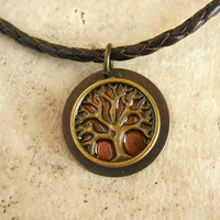 Tree of Life Necklace: Copper - Mens Jewelry - Cord Necklace - Boyfriend Gift - Celtic Jewelry - Mens Necklace - Tree Jewelry - Fathers Day
