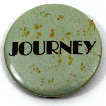 Vintage 80s Journey Badge Pinback Button Pin