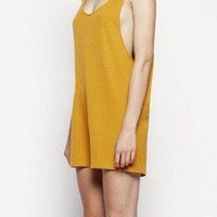 KAHLO Wanton Playsuit // Orange — The End Collective