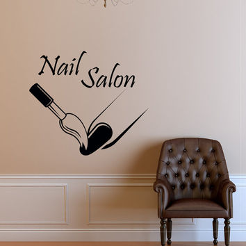 Custom Nail Salon Wall Decal Vinyl Sticker Manicure Nail Polish Fashion Woman Girls Wall Decals Murals Beauty Salon Art Home Decor Z859